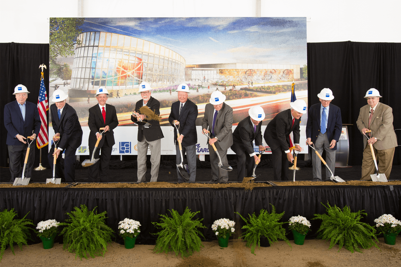 The groundbreaking ceremony for the ICR Discovery Center