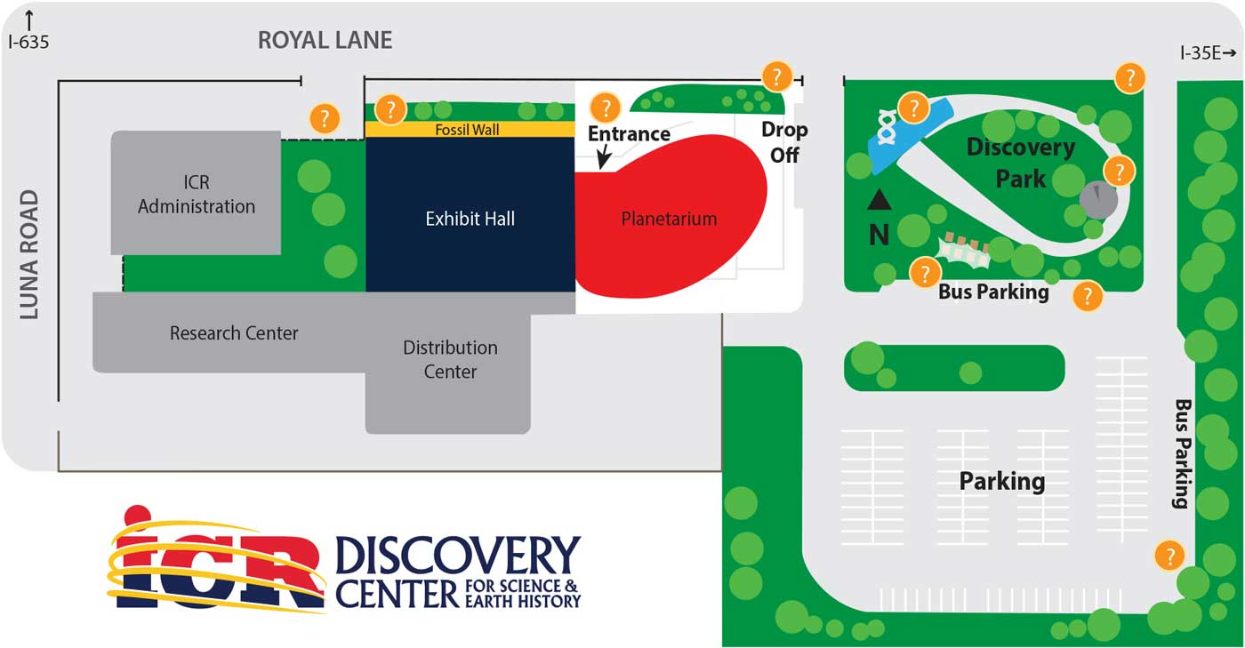 A map of the ICR Campus